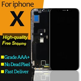 Iphone Screen Testing Australia - A+++++ Quality Test OEM OLED LCD Replacement For iPhone X LCD Display 3D Digitizer Touch Screen Assembly Black Color