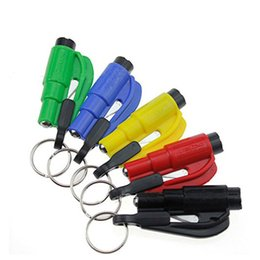 Auto Emergency Tools Australia - Mini 3 in 1 Seatbelt Cutter Emergency Glass Breaker Key Chain Tool Smart AUTO Emergency Safety Hammer Escape Lift Save Tool SOS Whistle
