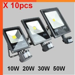 $enCountryForm.capitalKeyWord Australia - (10pcs lot)85-265V 10W 20W 30W 50W 70W 100W PIR Motion Detective Sensor Outdoor LED Floodlights Flood Light Lamp Ip65