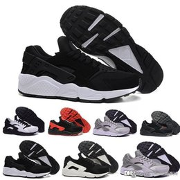 womens black running sneakers UK - New Huarache 4.0 1.0 Sneaker Womens Running shoes for men Triple Black Huaraches Breathable Trainers Outdoors Shoes Size 36-45