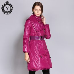 dbb07634a8a COUTUDI 2018 Winter Plus Size Long Womens Down Jackets Solid Warm Duck Down  Coat Autumn Thick Women Coat With Belt Female Parkas
