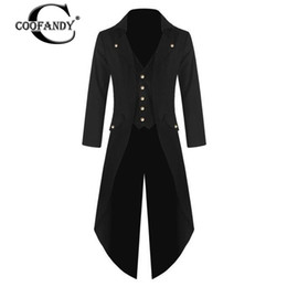 masquerade jackets UK - Men Collar Turn-down Solid Spring Jacket Formal Dancing Autumn Closure Sleeve Party Long Masquerade Party Tuxedo Button