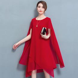 d4c882c5e681 Yiciya abito in chiffon dal capo elegante abiti da cerimonia formale per le  donne Plus Size 4xl 5xl estate 2019 abito da festa rosso nobile  abbigliamento ...