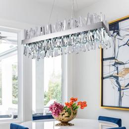 $enCountryForm.capitalKeyWord Australia - new rectangle crystal Chandelier For Living Room silver dining room Lighting Fixtures cristal chandeliers pendant lamp 110-220V