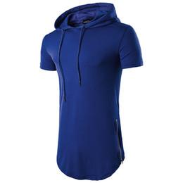 $enCountryForm.capitalKeyWord Australia - Hemiks Multi Colour Mens Slim Fit Hooded Shirt Summer Short Sleeve Muscle Tee Men'S Casual T-Shirts Drawstring Male Tops