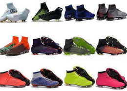 Free indoor ronaldo shoes online shopping - Men Mercurial Superfly V CR7 FG Football Boots Neymar JR ACC Soccer Shoes Cristiano Ronaldo High Ankle Outdoor Soccer Cleats