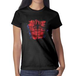 Design Red Shirt Australia - Spiderman-design-spider-red- Womens T Shirt black Shirts Custom T Shirts Cool Tee Shirts Crazy Design Your Own Shirt Black