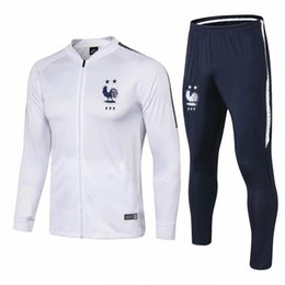 Gore Tex Xcr Jacket Australia - National team Two stars MBAPPE jacket tracksuits sets 18 19 GRIEZMANN tracksuits soccer jersey POGBA jackets training suits
