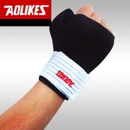 $enCountryForm.capitalKeyWord Australia - Aolikes Wristband Black Gym Gloves Elastic Wrist Wraps Thumb Wrap Wrist Brace Bandage Palm Supports Sport Training Tennis 2017 A