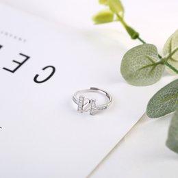 $enCountryForm.capitalKeyWord NZ - Fashion CZ Letter H S 925 Sterling Silver Adjustable Ring