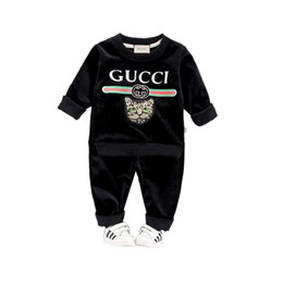 $enCountryForm.capitalKeyWord Australia - HOT In stock Best selling designer top brand 1- 4 years old BABY BOYS GIRLS GG clothes + pants high quality coco