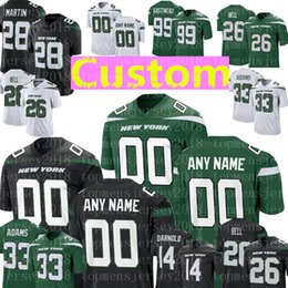 db7b01d0b30 New york jets jerseys online shopping - New York Custom Jets Jersey Curtis  Martin Le Veon