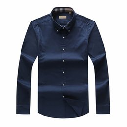 Large size poLo shirts men online shopping - 2019 Autumn And Winter plaid Large size men s long sleeved Shirt Men UK Brand POLO Shirts Oxford Business Shirt Small Horse Clothes S XL