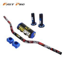 Moto guidon 28mm avec poignée Grip Fat Bar Dirt Bike Motorcross YAMAHA YZ YZF WR WRFR 125 250 400 450 426 CRF en Solde