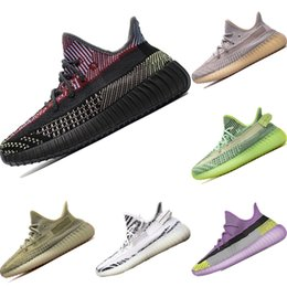 sport shoe key chains UK - With Sock and Key Chain Coconut V2 Static PrimeKnit Breathable Sports Shoes Originals Kanye West V2 Static Buffer Rubber Jogger Shoes