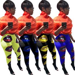 European Clothing Australia - 3707 Cross-border 2019 summer European and American new women's clothing Printed big lips leggings Trousers Nightclub clothes
