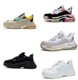 10e57d310 Hot!!2018 Fashion Paris 17FW Triple-S Sneaker Triple S Casual Luxury Dad  Shoes for Men s Women Beige Black Sports Tennis Running Shoe 36-45