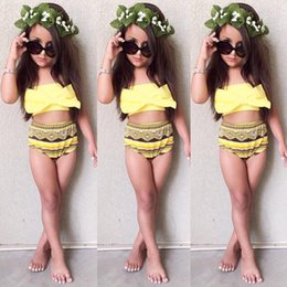 $enCountryForm.capitalKeyWord Australia - Infant Kids Baby Girls Lovely Cute Tankini Bikini Swimwear Swimsuit Bathing Suit Beachwear Costume