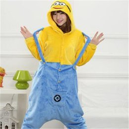 430385b23e Unisex Winter Adult Cartoon Pajamas Flannel Full Despicable Me Minion Dave Pajama  Sets Women Cosplay Garment Pyjama Sets Oneises