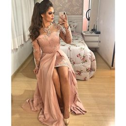Gold muslim dress online shopping - New Dress Plus Size Prom Cocktail Dresses Arabic Muslim Evening Formal Gown Prom Dress Long