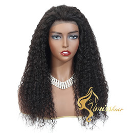 cheap afro full lace wigs NZ - Umiss Raw Unprocessed Human Hair Wigs Jerry Curly Virgin Human Hair Swiss Lace Full Lace Human Hair Wigs Cheap