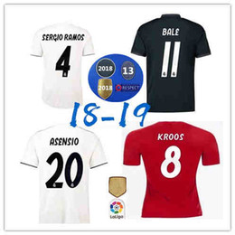 755b10a76 Thai quality ASENSIO Soccer Jersey 18 19 Real Madrid SERGIO RAMOS MARIANO home  away blue Soccer shirt 2019 KROOS ISCO BALE Football uniform