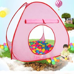 Discount soft ball toys for babies - 2019 kids tent Ocean Balls Play Tents House Pit Pool Tent Baby Indoor Outdoor Toy Children Outdoor Beach Game for Fun