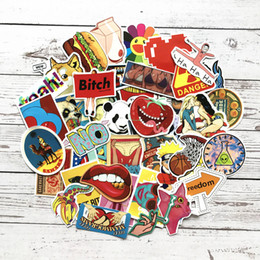Wholesale sexy car stickers online shopping - 100pcs JDM decal Sexy Cool Stickers for Graffiti Car Covers Skateboard Snowboard Motorcycle Bike Laptop Car Styling Accessories