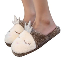 canvas slippers 2019 - YOUYEDIAN fur slipper Indoor House Slipper Soft Plush Cotton Cute Shoe Non-Slip Home Furry Women Shoes sapatos mulheres
