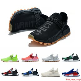 trail trainers UK - 2019 New Human Race Trail Running Shoes NMD Women Mens Designer Sneakers Trainers Human races Pharrell Williams HU Runner Pack Red Sports