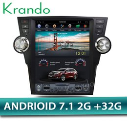 "Gps For Toyota Highlander Australia - Krando Android 7.1 12.1"" Vertical screen car DVD entertainment player GPS for Toyota Highlander 2009-2013 radio navigation system KD-TV154"