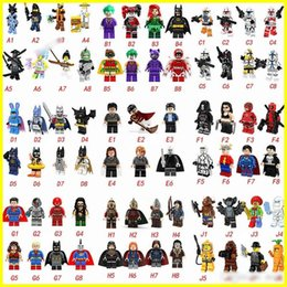 Spiderman figureS online shopping - Hottest type Minifig Super Heroes Avengers Spiderman Space Wars Harry Potter Hobbit Figure Super Hero Blocks Action FiguresToys