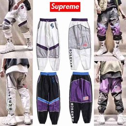 Men new fashion jogging pants online shopping - 2019 new sweatpants Supreme trousers Breathable sweat trend fashion Comfortable men women black size M XXL Leg pants hot m213