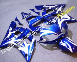 $enCountryForm.capitalKeyWord Australia - YZF 600 R6 Moto Fairing For Yamaha YZFR6 1998 1999 2000 2001 2002 YZFR6 Motorbike Blue White Body Work Fairing Kit (Injection molding)