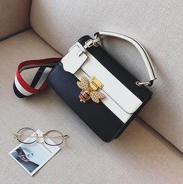 $enCountryForm.capitalKeyWord Australia - European and American fashion color small square bauble summer new handbag female inserts the bee lock shoulder bag