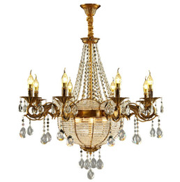 Chinese  Luxury Church Crystal Candle Chandeliers Industrial Gold Sphere Srystal Lustres Chandelier Lighting For Hotel Villa Art Pendant Lamp Lights manufacturers