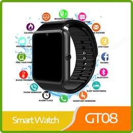 $enCountryForm.capitalKeyWord Australia - Free Ship Smart Watch GT08 Clock Sync Notifier Support Sim TF Card Bluetooth Connectivity Android Phone Smartwatch Alloy Smartwatch