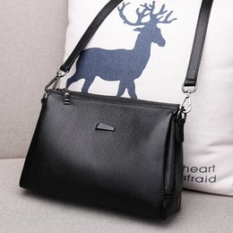 Small Packages NZ - Small Bag 2018 New Pattern Messenger Woman Package Joker Ma'am Cowhide Single Shoulder purses Fashion Soft Leather Capacity
