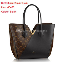$enCountryForm.capitalKeyWord NZ - Top quality Fashion Louis KIMONO Shoulder Bags Women Leather Louis Handbags Tote Satchel Messenger Bags Purse with dustbag W014