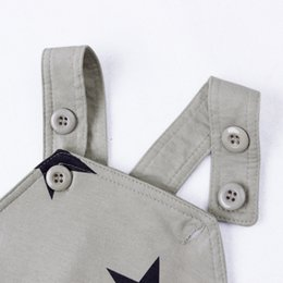 jacket star boy Canada - Baby Boys Baby Girls clothing set Newborn baby black grey striated T-shirt+ bib pants + hat stars pattern costumes suits