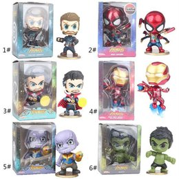 wholesale plastic figures Australia - 6 Styles The Avengers toys New Cartoon Action Figures 13.5*11*8CM plastic Gift For Kids C6275