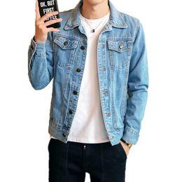 $enCountryForm.capitalKeyWord Australia - 2019 Autumn Men's Leisure Denim Jacket , Comfortable Casual Cotton Large Size Men's Slim Long Sleeve jeans Jacket for Men