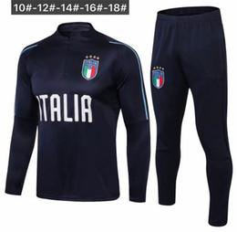 Discount italy suits - TOP quality 2018-2019 Italy kids Football training suit18-19 Verratti de foot De Rossi Bonucci Chiellini children soccer