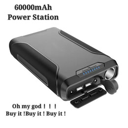 portable power bank solar panel UK - 222Wh 60000mAh Portable Power Bank Power Station Solar Panel Generator Inverter Supply Energy with 2 USB