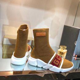 $enCountryForm.capitalKeyWord Australia - Luxury Speed Sneakers X Gcds Mens Women Classic Arena Sock Boot Textile Upper High -Top Stretch Knit Sneaker Socks Boots Bal08