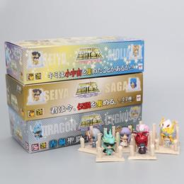 $enCountryForm.capitalKeyWord Australia - 21pcs set Anime Saint Seiya Figure Gold Saint Egg Box Pvc Action Figure Knights Of The Zodiac Toy Model Q Edition Children Gift Y19062901