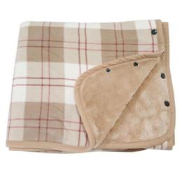Electric Hot Warmer Australia - 2019 New Hot Women Plaid Blanket Multifunctional Hygroscopic Warm Blanket Flannel Shawl