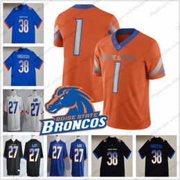Football Numbers Australia - Custom Boise State Broncos Football Jerseys Any Name Number #38 Leighton VanderEsch 22 Alexander Mattison 4 Brett Rypien 1 Wilson Jr. S-3XL