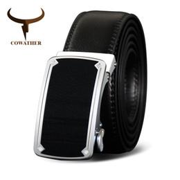 Big Size Belts For Men Australia - COWATHER Famous Brand Belt Mens Belt Luxury Automatic buckle Belts Genuine Leather Belts Jeans Belt For Men big size