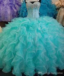 $enCountryForm.capitalKeyWord Australia - 2019 New Real Image Glittering Ball Gown Quinceanera Dresses Sequins Crystal Beads Sweet 16 Dresses Princess Prom Dresses Custom Made